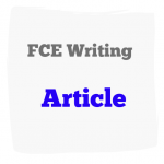 FCE writing article