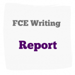 FCE writing report