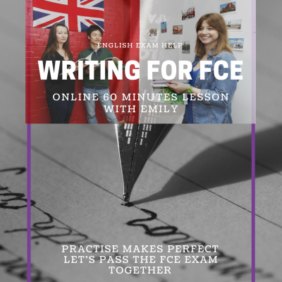 Online english lesson writing for FCE