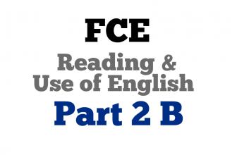 Use of English Part 2 B