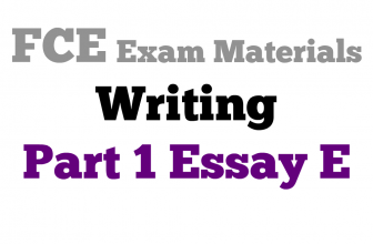 How to write an essay for New FCE exam