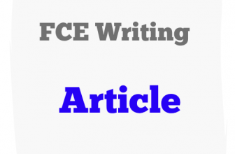 FCE writing – sample article