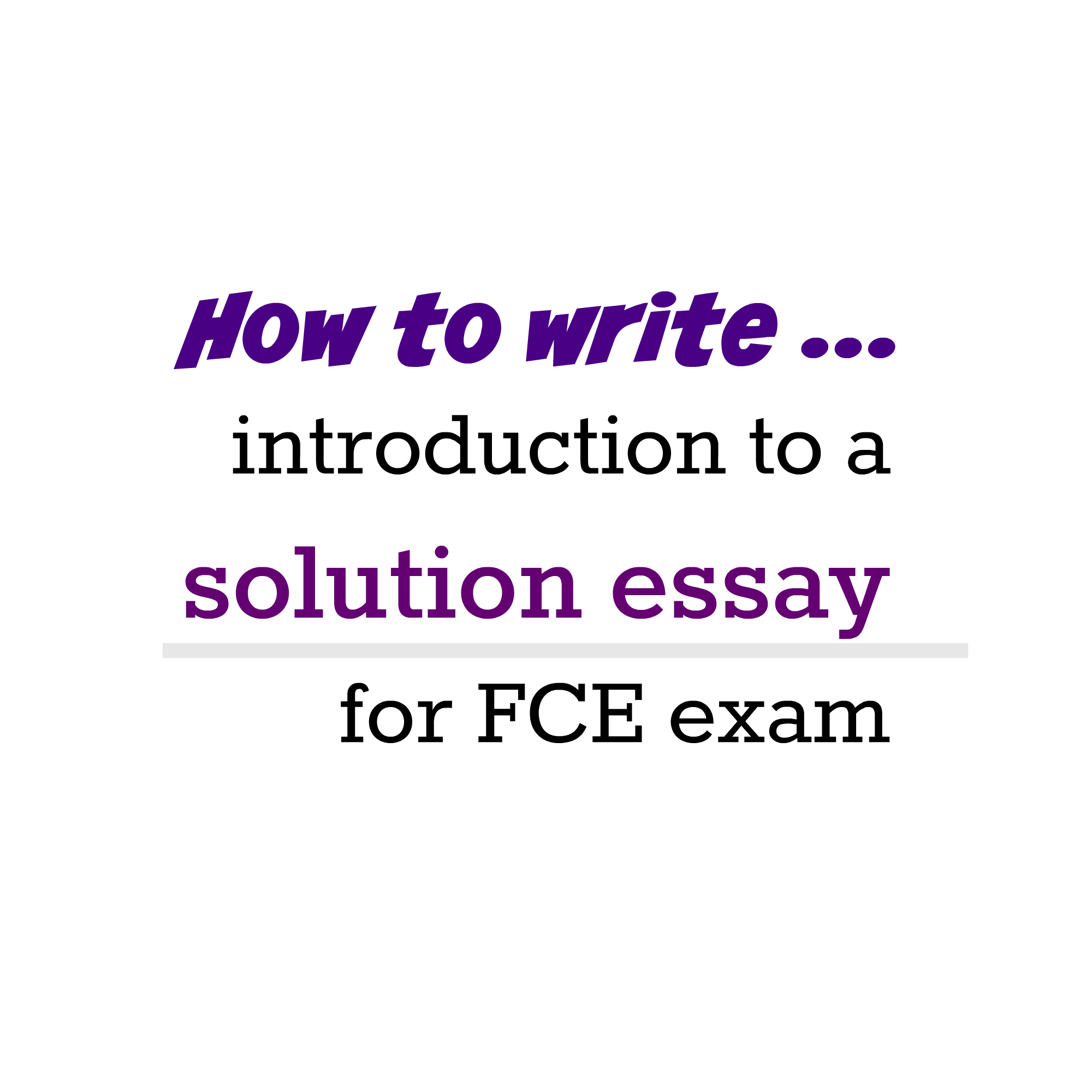 solution essay write