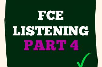 FCE Listening Part 4 A