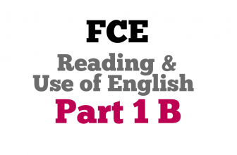 Use of English Part 1B