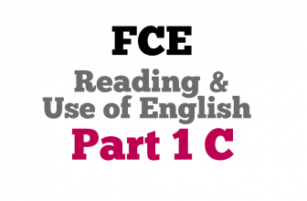 Use of English Part 1C