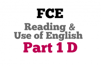 Use of English Part 1D
