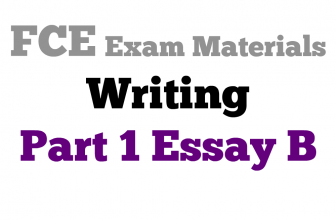 FCE Writing Part 1 essay B