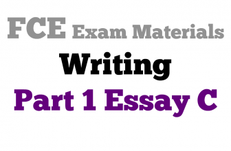 FCE Writing Part 1 essay C
