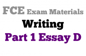 FCE Writing Part 1 essay D