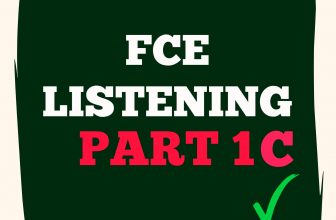 FCE Listening Part 1 C with answers