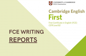 FCE writing- report examples