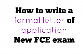 How to write a formal application letter for New FCE exam