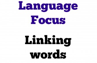 Linking words for FCE Writing parts