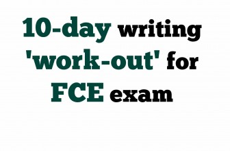 10-day FCE exam writing challenge