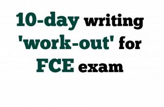 10-day FCE exam writing challenge